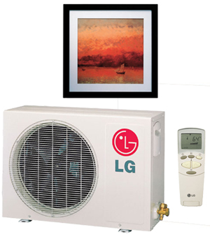 LG Art Cool Panel A09AH drevo/kov